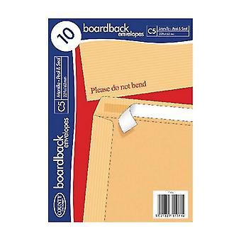 County Stationery Board Back Envelope (Pack of 10)