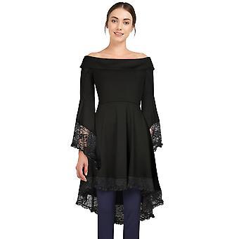 Chic Star Plus Size Semi Off Shoulder Dress Top In Black