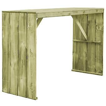 Bar Table 170x60x110 Cm Impregnated Pinewood