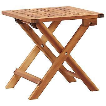 Tavolino da giardino pieghevole 40x40x40 cm legno massello di acacia