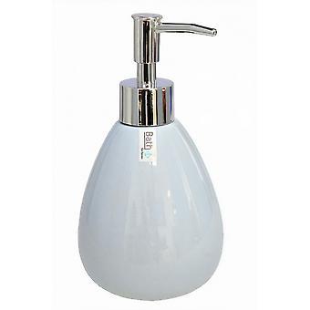 soap dispenser 9 x 7.5 cm stone light blue