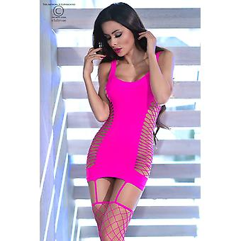 فستان قصير سلس CR4336 وردي