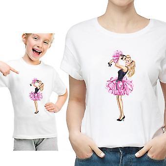 Perhe Matching T-paita, Naisten Tytär Äiti T-paita, Toppit