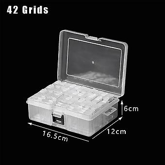 Grids Diamond Painting Rhinestone Transparent Storage Box\