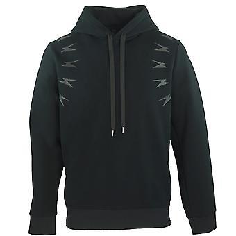 Neil Barrett Thunderbolt Shoulder Black Zip Hoodie