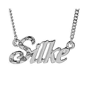 """L Silke - 18-karaats wit vergulde ketting, met aangepaste naam, verstelbare ketting van 16 """"- 19"""", in koninklijke verpakking"""