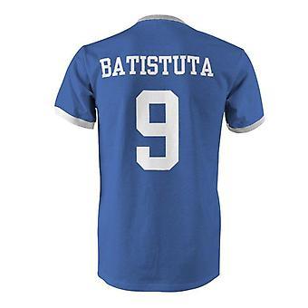 Gabriel batistuta 9 argentina country ringer t-shirt