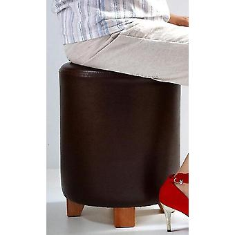 Solid Wood Simple Leather Restaurant Round Stool