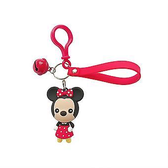 Cartoon Doll Mickey Car Keychain Key Ring Bag Pendant