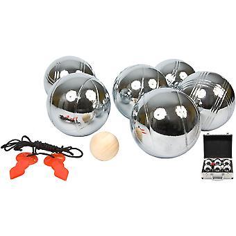 Jeu de Boules set 6 ballen – Aluminium koffer – Zilver