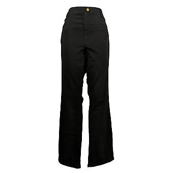 IMAN Global Chic Mujeres's Jeans Ilusión Denim Bootcut Negro 734928001
