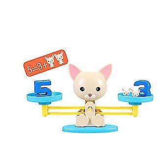Hundenummer Hinzufügen und Subtraktion Balance Spiel, Kinder pädagogische Spielzeug Lernwerkzeuge über 3 Jahre alt az9922