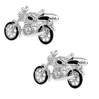 Abotoaduras de motocicleta novidade Sport Bike Brass Material Homens Cuff Links
