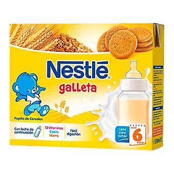 Purée pour bébés Nestlé Galleta Lait et Céréales au Miel (2 x 250 ml)