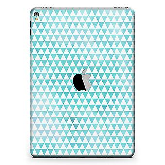 Blue-green Watercolor Triangle Pattern Full Body Skin For The Ipad Pro