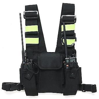 neue pt-08 brght grüne Brustgurt front pack tasche holster weste rig für walkie talkie sm45546