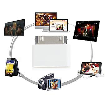 30 Pin Docking Male To 8 Pin Female Data Adapter For For Iphone 4 4s For Ipad 2 3
