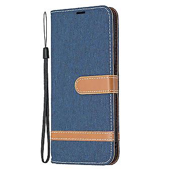 Folio Flip Cover Leather Case For Xiaomi Redmi Note 10 5g Navy Jeans