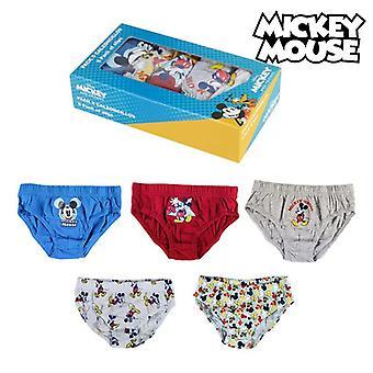 Pakke med underbukser Mikke Mus Barn Flerfarget (5 uds)