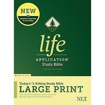 NLT الحياة تطبيق دراسة الكتاب المقدس الطبعة الثالثة طباعة كبيرة من قبل تحريرها من قبل Tyndale