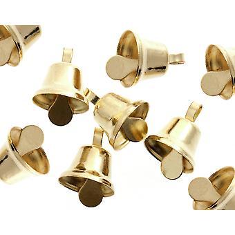 100 Gold 10mm Liberty Jingle Bells for Crafts