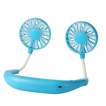 Mini fan hands-free neck fan rechargeable battery small portable sports fan