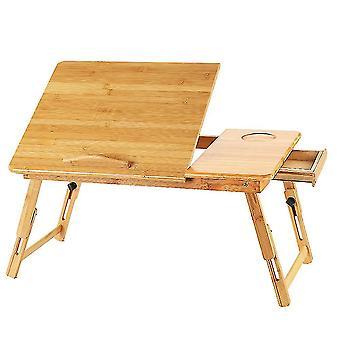 Kannettava pöytä sängylle, säädettävä taitettava kannettava pöytä säilytyslaatikolla, töihin