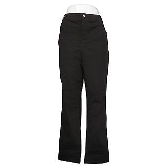 MarlaWynne Women's Plus Pants Stretch Peached Twill Black 734110