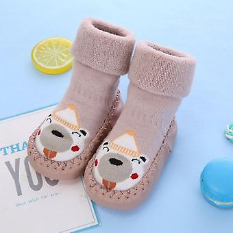 5pairs Toddler Socks With Rubber Soles For Toddlers Kids Socks Baby Boys Sock Shoes Warm Terry Thicken Slippers Infants Girl Winter