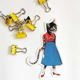 Retro Cat Lady - Vinyl Sticker