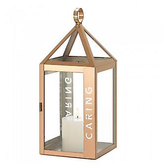 Gallery of Light Rose Gold Stainless Steel Caring Lantern - 17.5 inches, Pack of 1