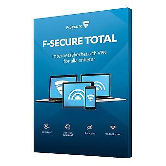 F-Secure TOTAL (SAFE+Freedome VPN) 1 år 5 enh Fuld