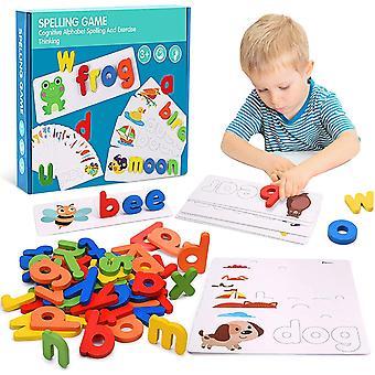 Kinder Puzzle Holz Rechtschreibung Wort Kinder Brief Spiele Kindergarten Lehrmittel Englisch