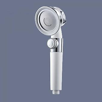 High-pressure Shower Head With Switch Button Bathroom 3 Functions Spa Filter Bathtub Head Water-saving Shower