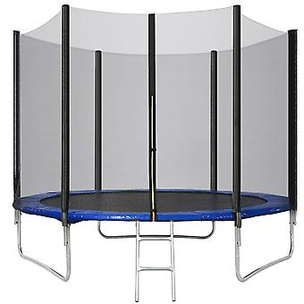 6ft Trampoline High With Jumping Sheet, Safety Enclosure Nets, Ladder And Anchor Kit