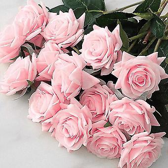 Wedding favors 7pcs/lot artificial flowers decor rose silk flowers floral latex real touch rose wedding bouquet