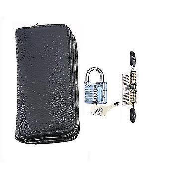 Locks latches 24pcs titanium lock set with 2pcs transparent lock lock practice pick remove tool kit for