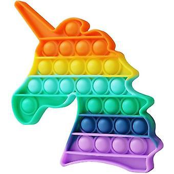 Push Pop It Fidget Spielzeug Silikon Quadrat Mehrfarbig Anti Stress Bubble Spielzeug - Ljcase