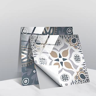 Crystal Tile Klistermärken Halkfria klistermärken, Hem försköning Dekoration A (2 uppsättningar)