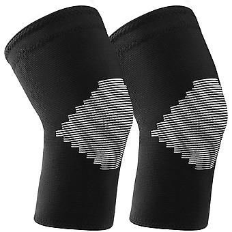 2-piece Sports Protective Gear, Knitted Knee Pads, Non-slip Joint Protectors For Men And Women