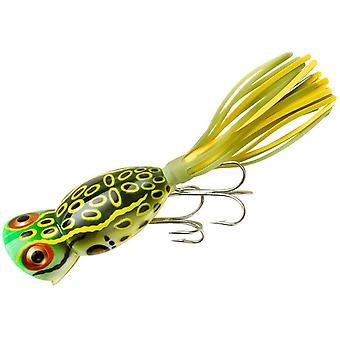 Arbogast Hula Popper 3/8 oz Fishing Lure - Bull Frog
