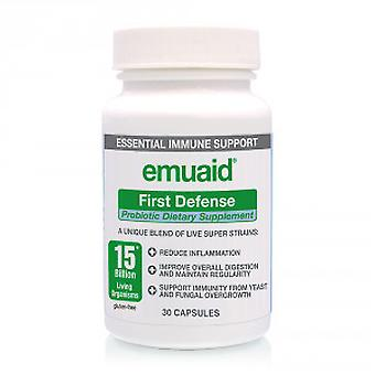 Emuaid First Defense Probiotic Capsules - Diet Supplement - 30 Capsules for 1 Month Supply