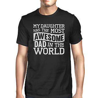 The Most Awesome Dad Mens Black T Shirt Perfect Dad Birthday Gift