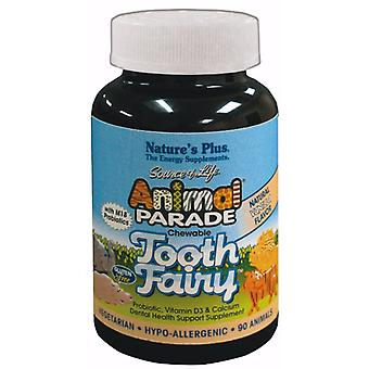 Natures Plus Animal Parade Tooth Fairy Children's Chewable Tablets, 90 Tablets