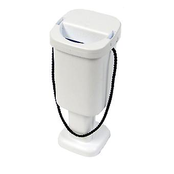 5 Square Charity Money Collection Boxes - White