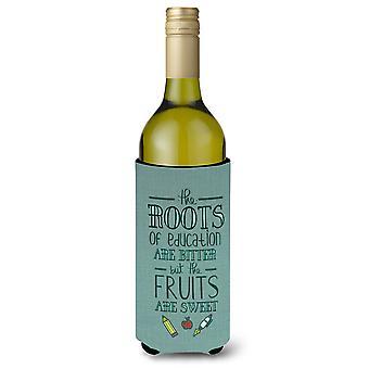 Education Fruits are Sweet Teacher Wine Bottle Beverge Insulator Hugger