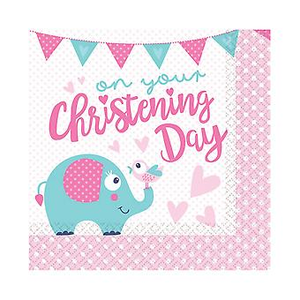 Amscan On Your Christening Day Napkins (Pack Of 16)