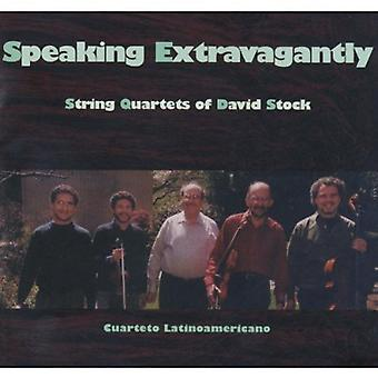 Cuarteto Latinoamericano - Speaking Extravagantly: String Quartets of David Stock [CD] USA import