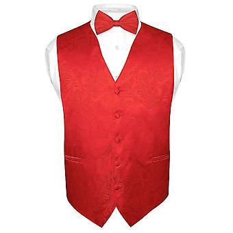 גברים ' s עיצוב פייזלי שמלה אפוד & עניבת פרפר עניבת בווסט עבור טוקסידו חליפה