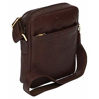 "Luxury Genuine Vintage Style Leather Ipad 10.2"" Tablet Case Cross Body Shoulder"